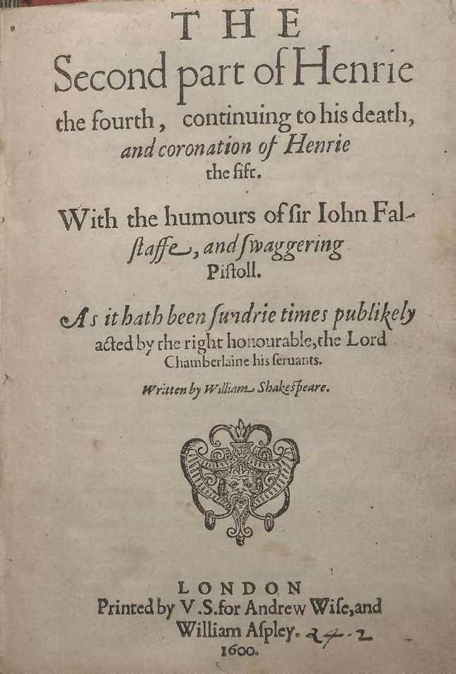 the comical character of sir john falstaff in henry iv a play by william shakespeare A few dissenters have argued that the dering ms may indicate that shakespeare's henry iv was originally a single play, which the poet later expanded into two parts to capitalise on the popularity of the sir john falstaff character the dering ms is part of the collection of the folger shakespeare library in washington, dc.