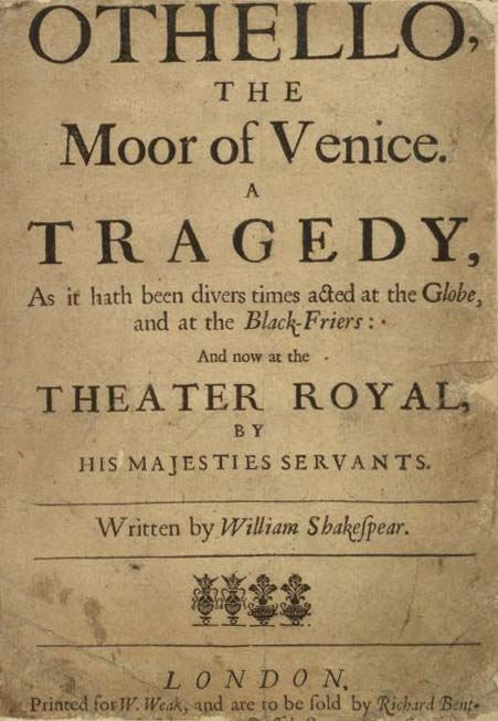 a analysis of the tragedy of othello by william shakespeare Othello by william shakespeare  shakespeare's great tragedy begins under the cover of night in the city of venice, a city-state famous for its military might.